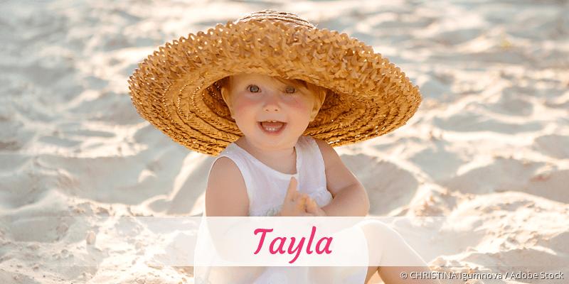 Name Tayla als Bild
