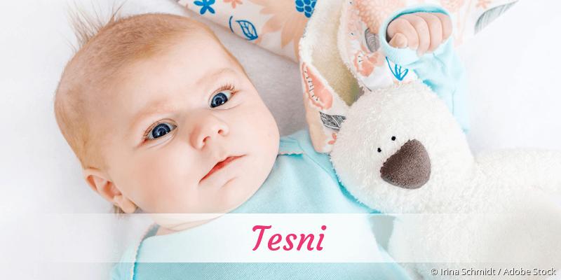 Name Tesni als Bild
