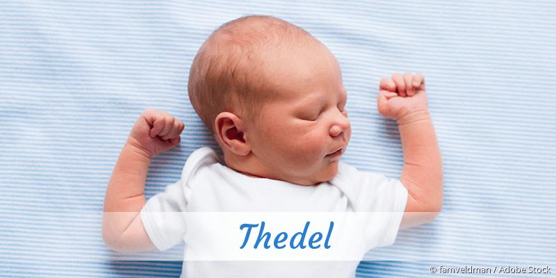 Name Thedel als Bild