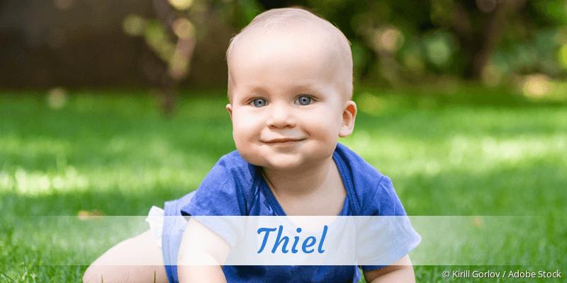 Name Thiel als Bild