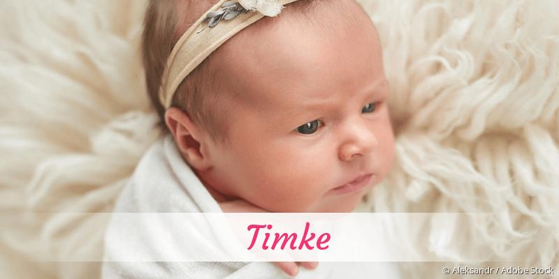 Name Timke als Bild