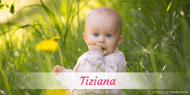 Name Tiziana als Bild