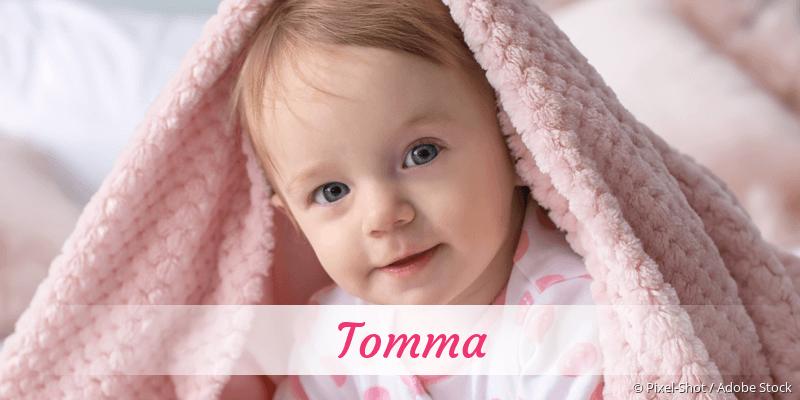 Name Tomma als Bild