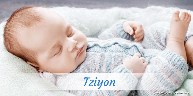 Name Tziyon als Bild