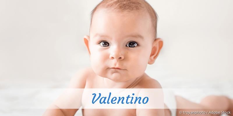 Name Valentino als Bild