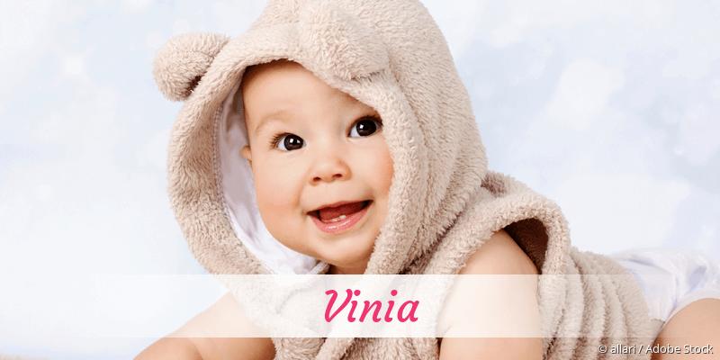 Name Vinia als Bild