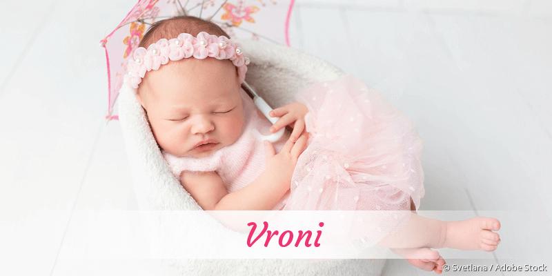 Name Vroni als Bild