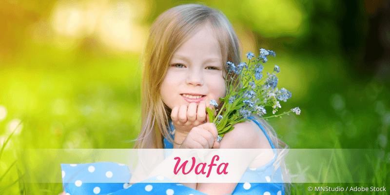 Name Wafa als Bild