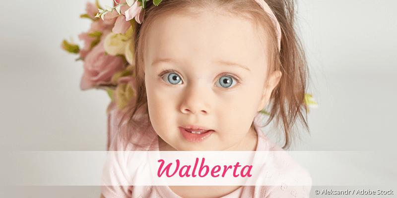 Name Walberta als Bild