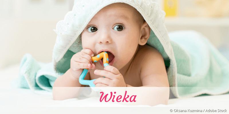 Name Wieka als Bild