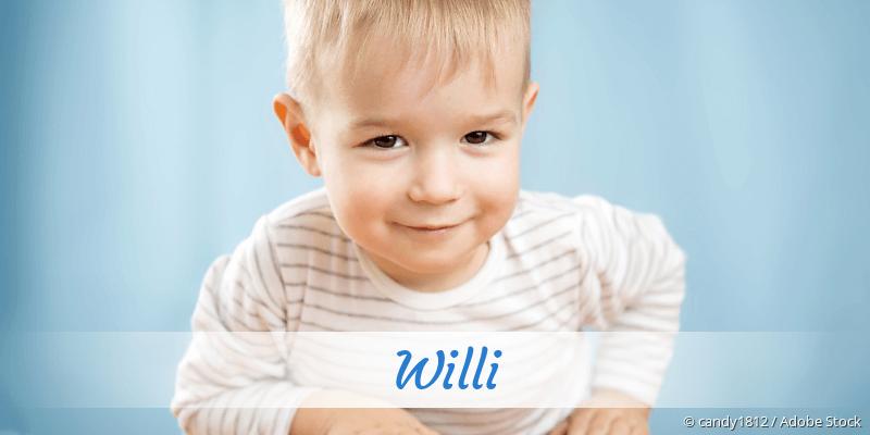Name Willi als Bild