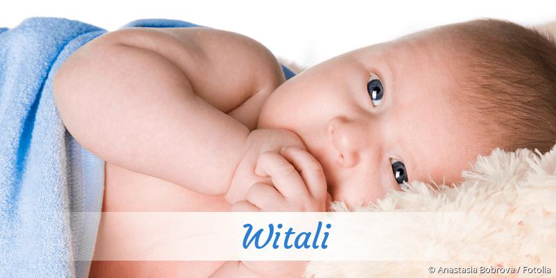 Name Witali als Bild