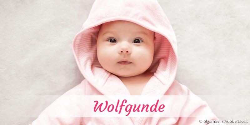 Name Wolfgunde als Bild