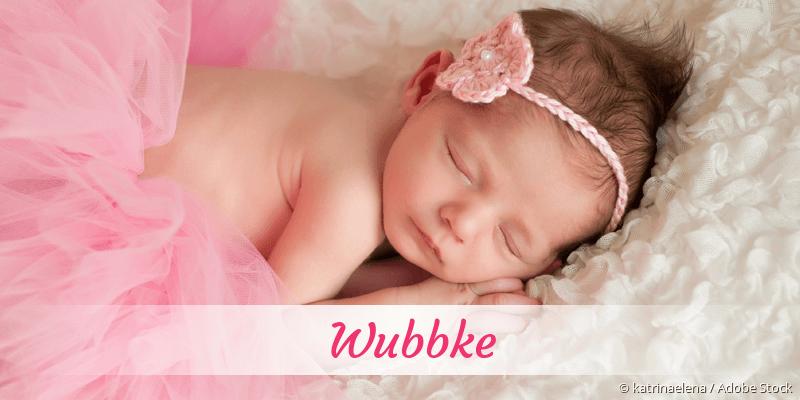 Name Wubbke als Bild