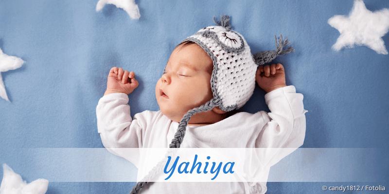 Name Yahiya als Bild