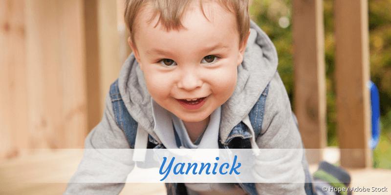 Name Yannick als Bild