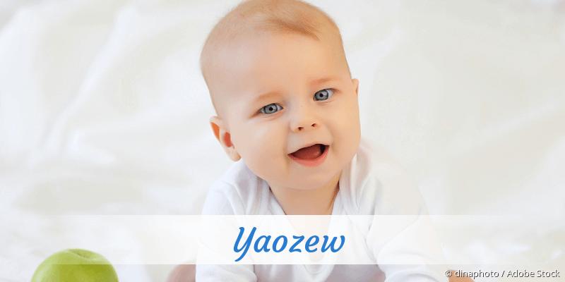 Name Yaozew als Bild