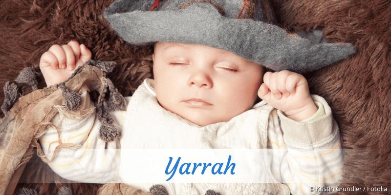 Name Yarrah als Bild