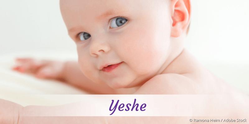 Name Yeshe als Bild