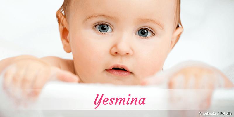 Name Yesmina als Bild