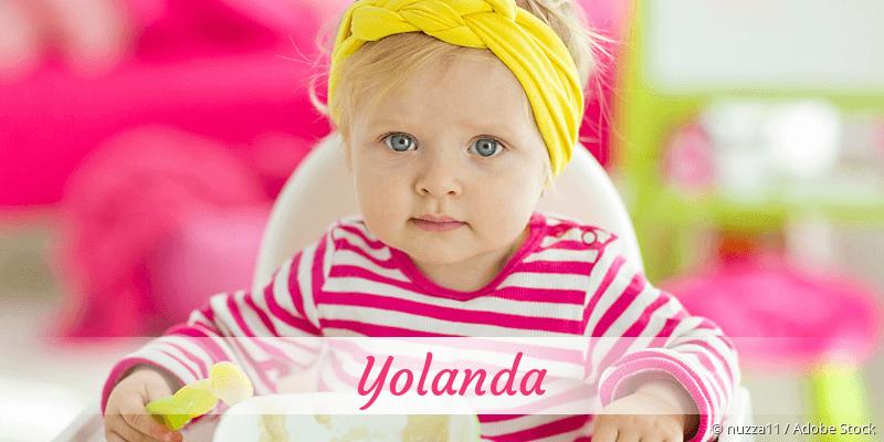 Name Yolanda als Bild
