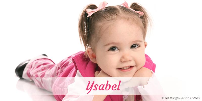 Name Ysabel als Bild