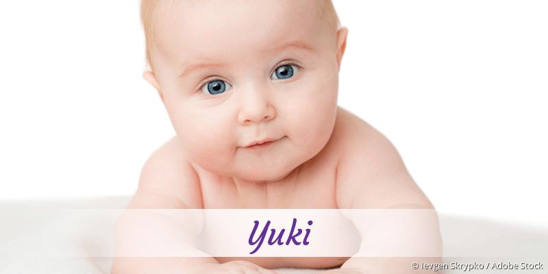 Name Yuki als Bild