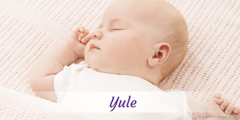 Name Yule als Bild