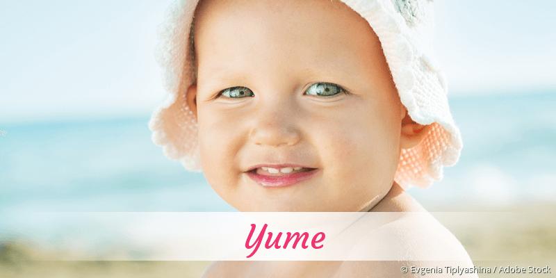Name Yume als Bild