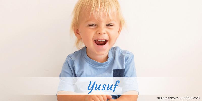 Name Yusuf als Bild