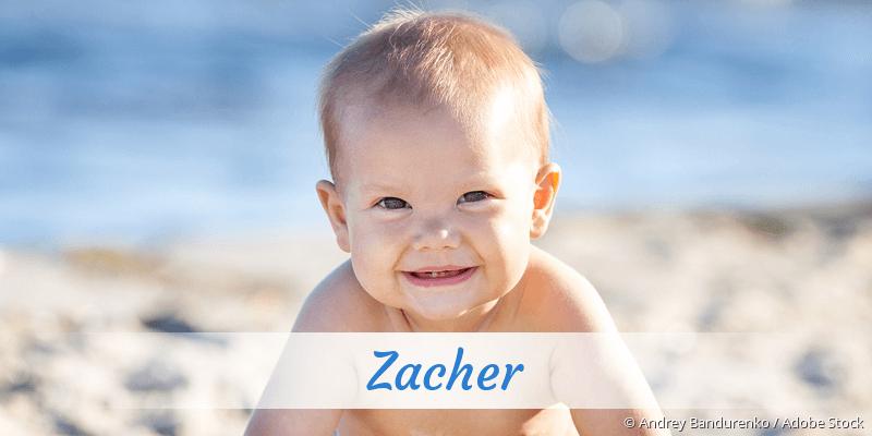 Name Zacher als Bild