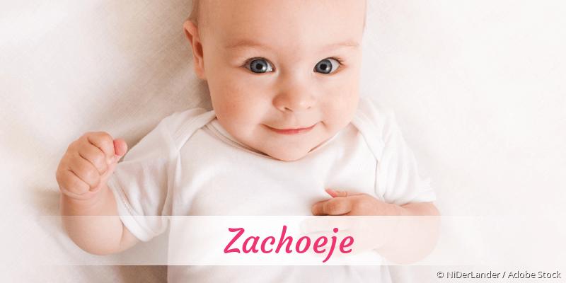 Name Zachoeje als Bild
