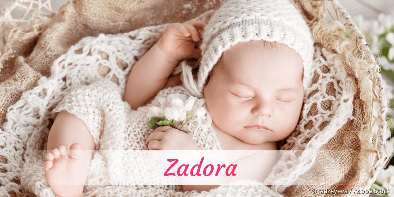 Name Zadora als Bild