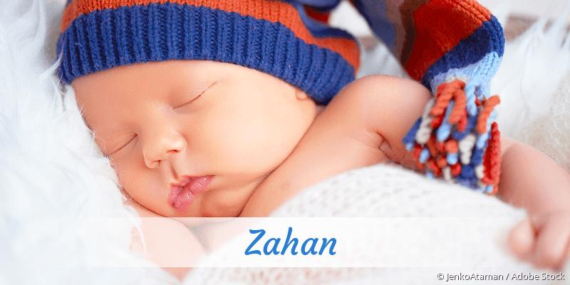 Name Zahan als Bild