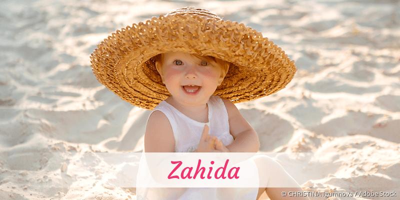 Name Zahida als Bild