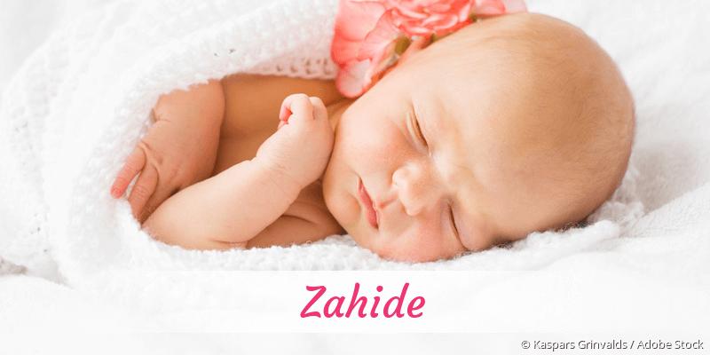 Name Zahide als Bild