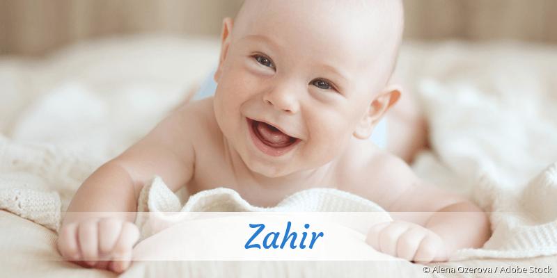 Name Zahir als Bild