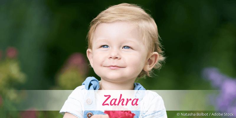 Name Zahra als Bild