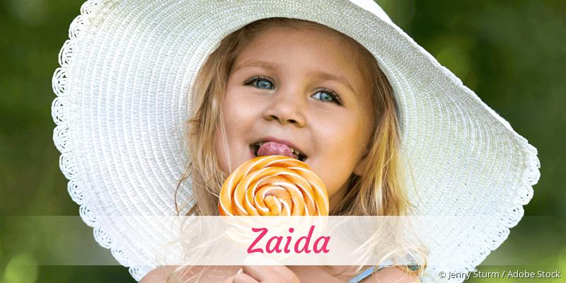Name Zaida als Bild