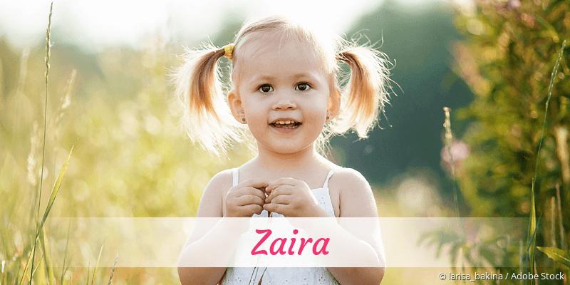 Name Zaira als Bild