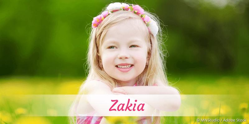 Name Zakia als Bild