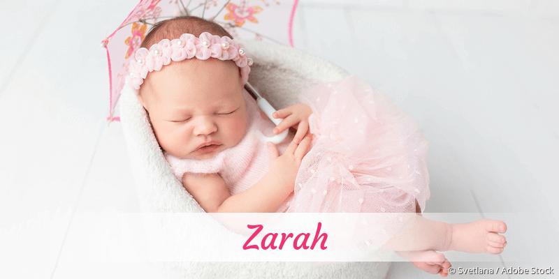 Name Zarah als Bild