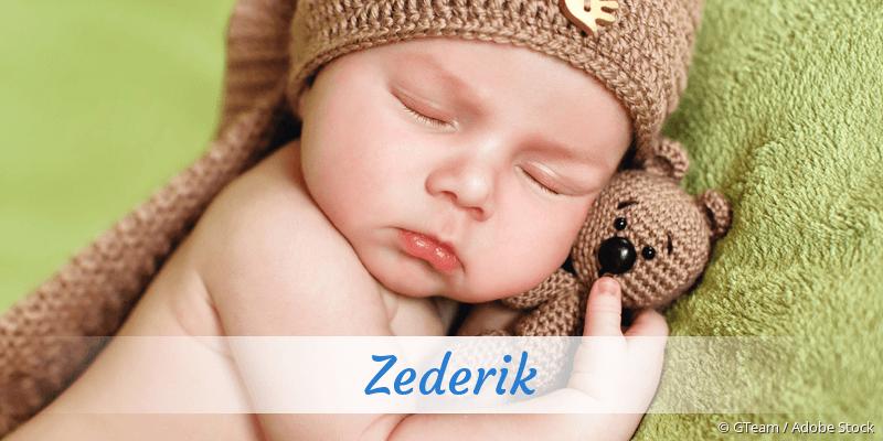 Name Zederik als Bild