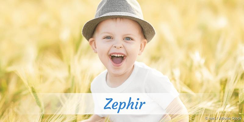 Name Zephir als Bild