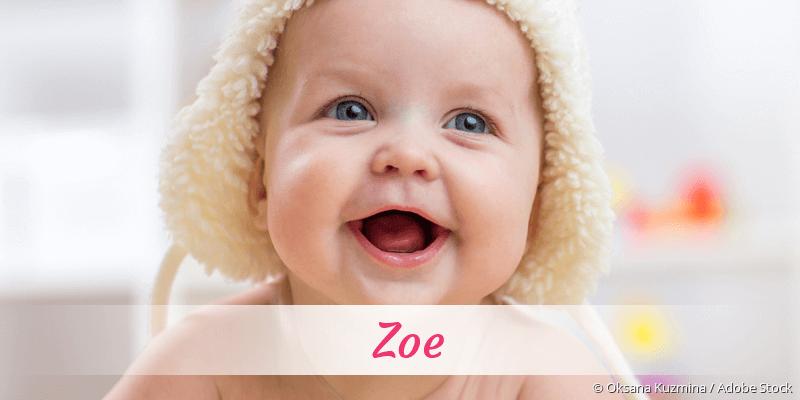 Name Zoe als Bild