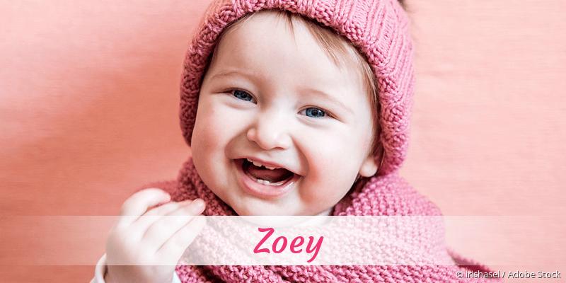 Name Zoey als Bild