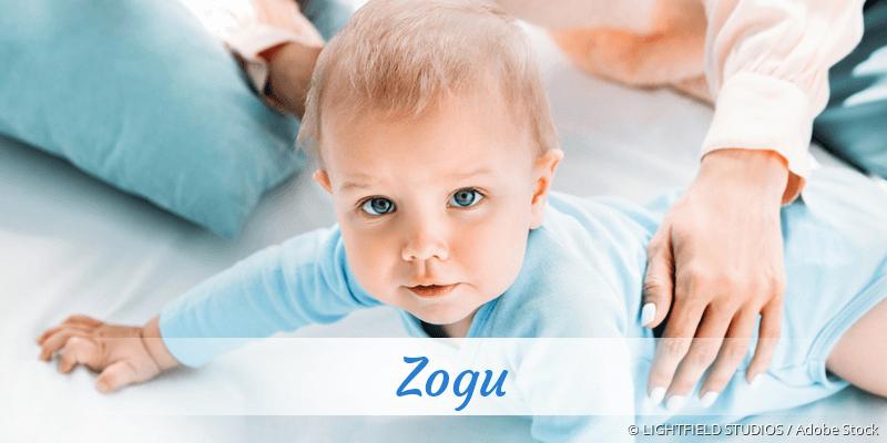 Name Zogu als Bild
