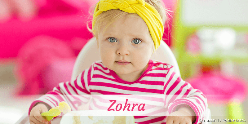 Name Zohra als Bild