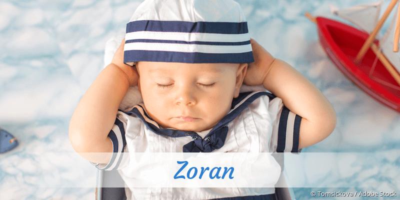 Name Zoran als Bild