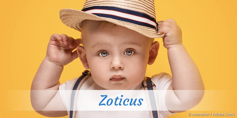 Name Zoticus als Bild